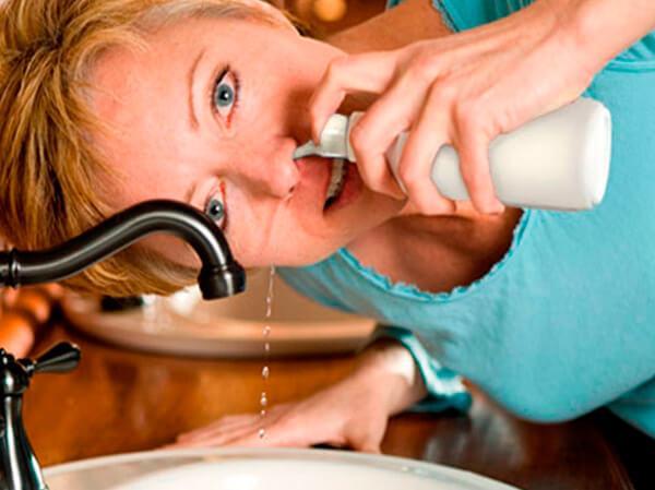 Чем промыть нос если он заложен в  336