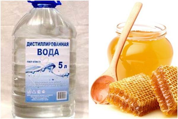 дистиллированная вода и мед