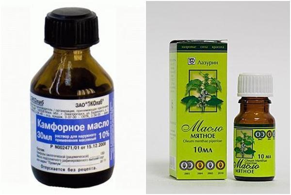 ментоловое и камфорное масло