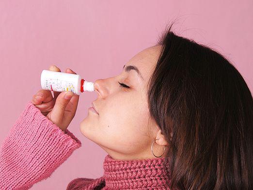 закапывание капель в нос