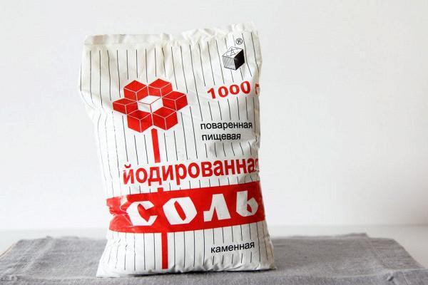 упаковка йодированной соли