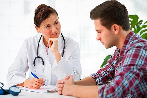 консультация мужчины у врача