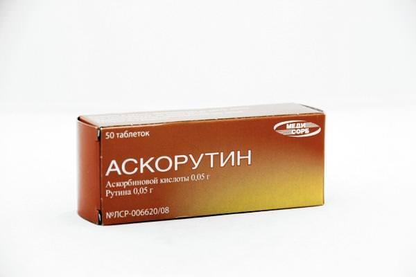упаковка препарата Аскорутин