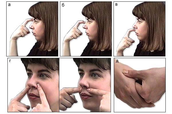 пошаговый массаж при гайморите
