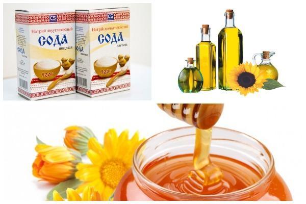 сода масло мед