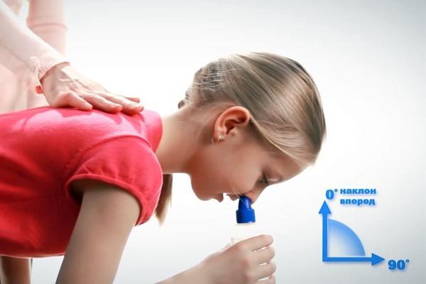 девочка промывание нос