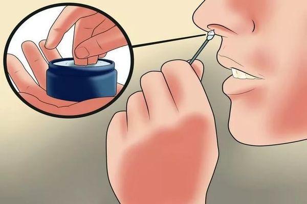 как мазать в носу