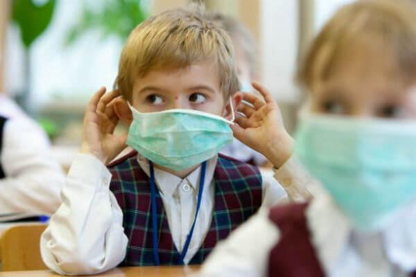грипп у детей в школе