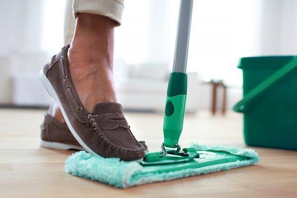 процесс влажной уборки