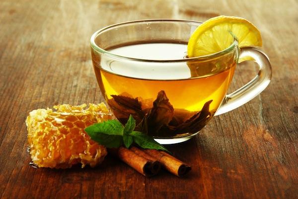 горячий чай с медом