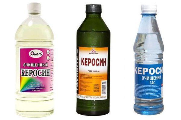 керосин в бутылках