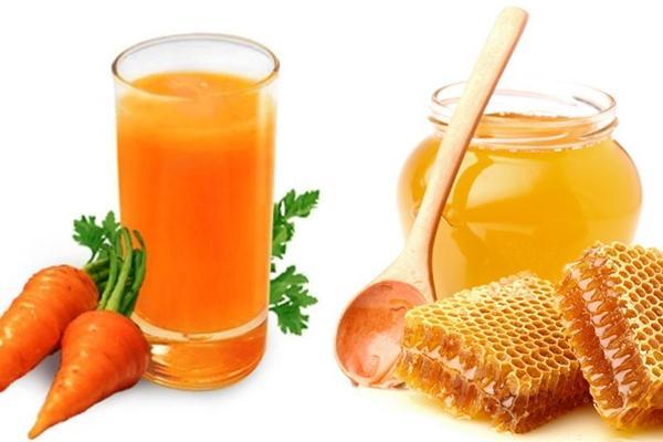 Мед с морковным соком