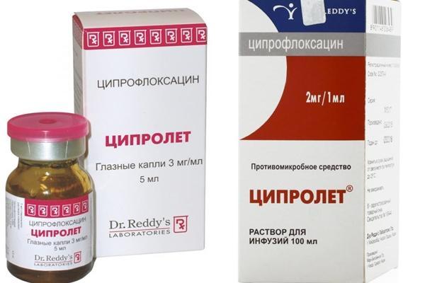 упаковка препарата ципролет