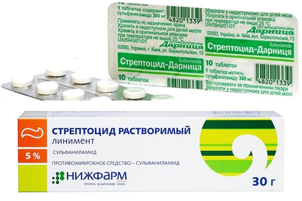 формы выпуска препарата стрептоцид