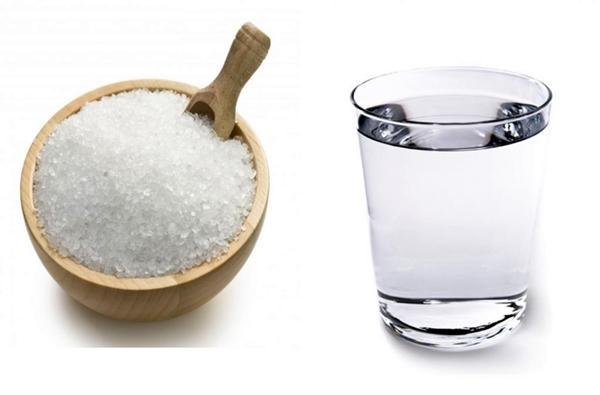 морская соль и вода