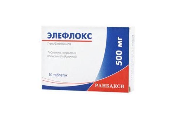 упаковка препарата элефлокс