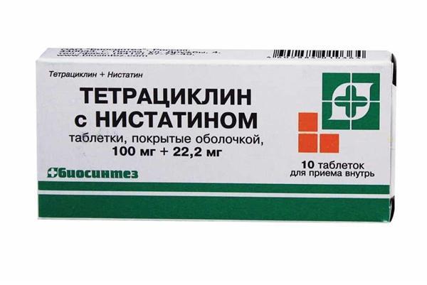 упаковка таблеток тетрациклин