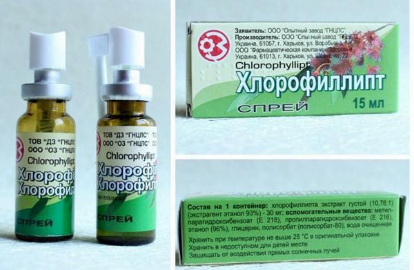 упаковка препарата хлорофиллипт