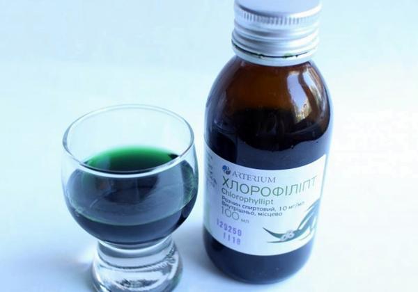 раствор препарата хлорофиллипт