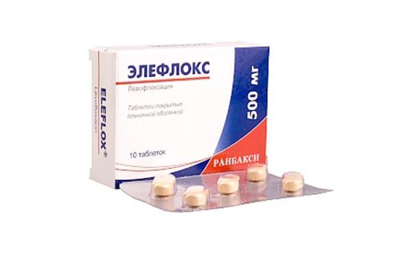 пластинка препарата элефлокс