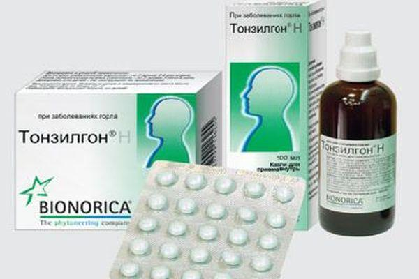 раствор и таблетки тонзилгона