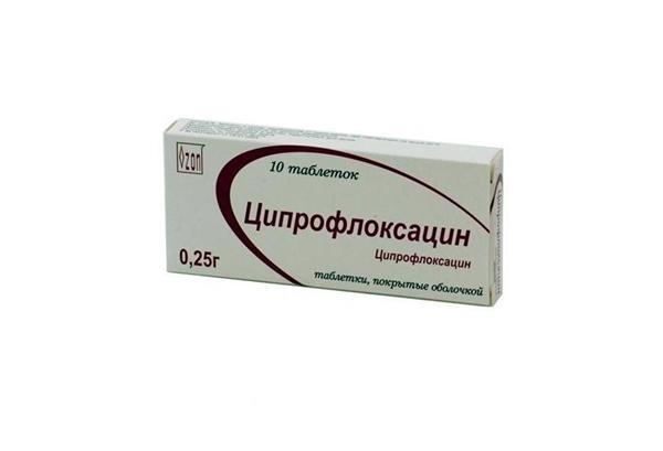 10 таблеток ципрофлоксацина