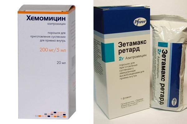 аналоги азитромицина и сумамеда