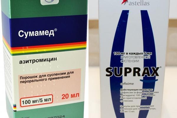 препараты сумамед и супракс