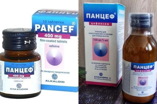 формы выпуска препарата панцеф