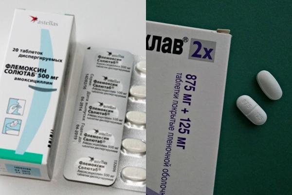 таблетки амоксиклав и флемоксин солютаб