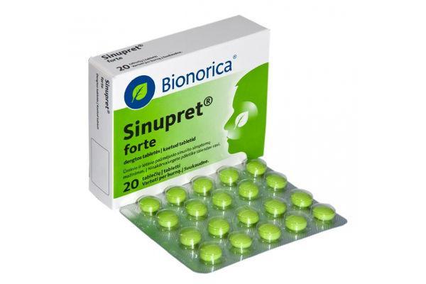 таблетки синупрета