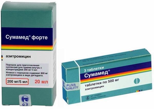 таблетки и порошок сумамед