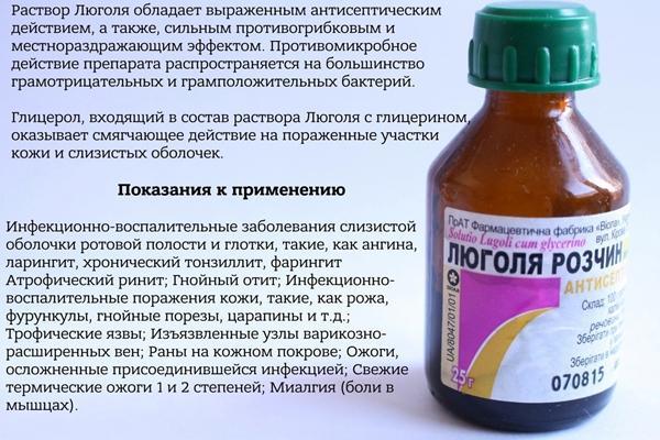 краткое описание препарата люголь