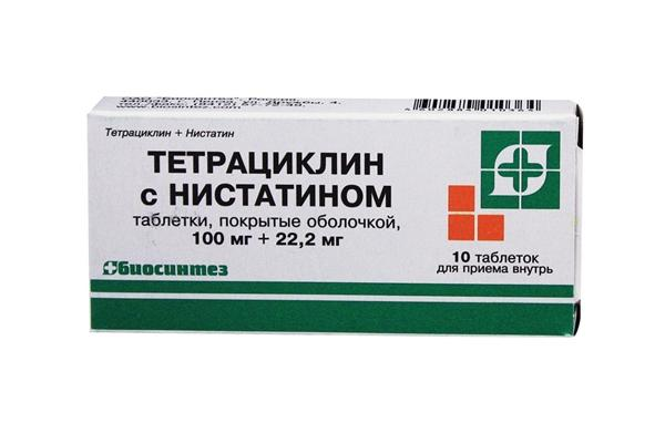10 таблеток тетрациклина