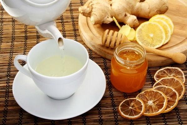 чай с имбиря, лимона и меда