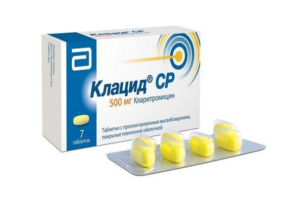 применение препарата клацид