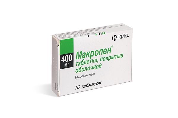 упаковка мидекамицина
