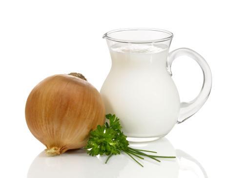 Молочный отвар лука или чеснока