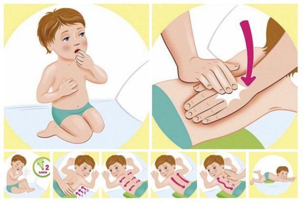 Массаж при мокром кашле у ребенка