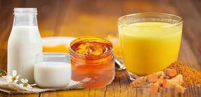 Молоко с куркумой, имбирем и медом